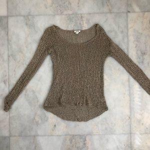 Helmut Lang crochet long sleeve